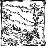 Rainforest Scene Coloring Page