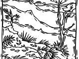 Rainforest Scene Coloring Page