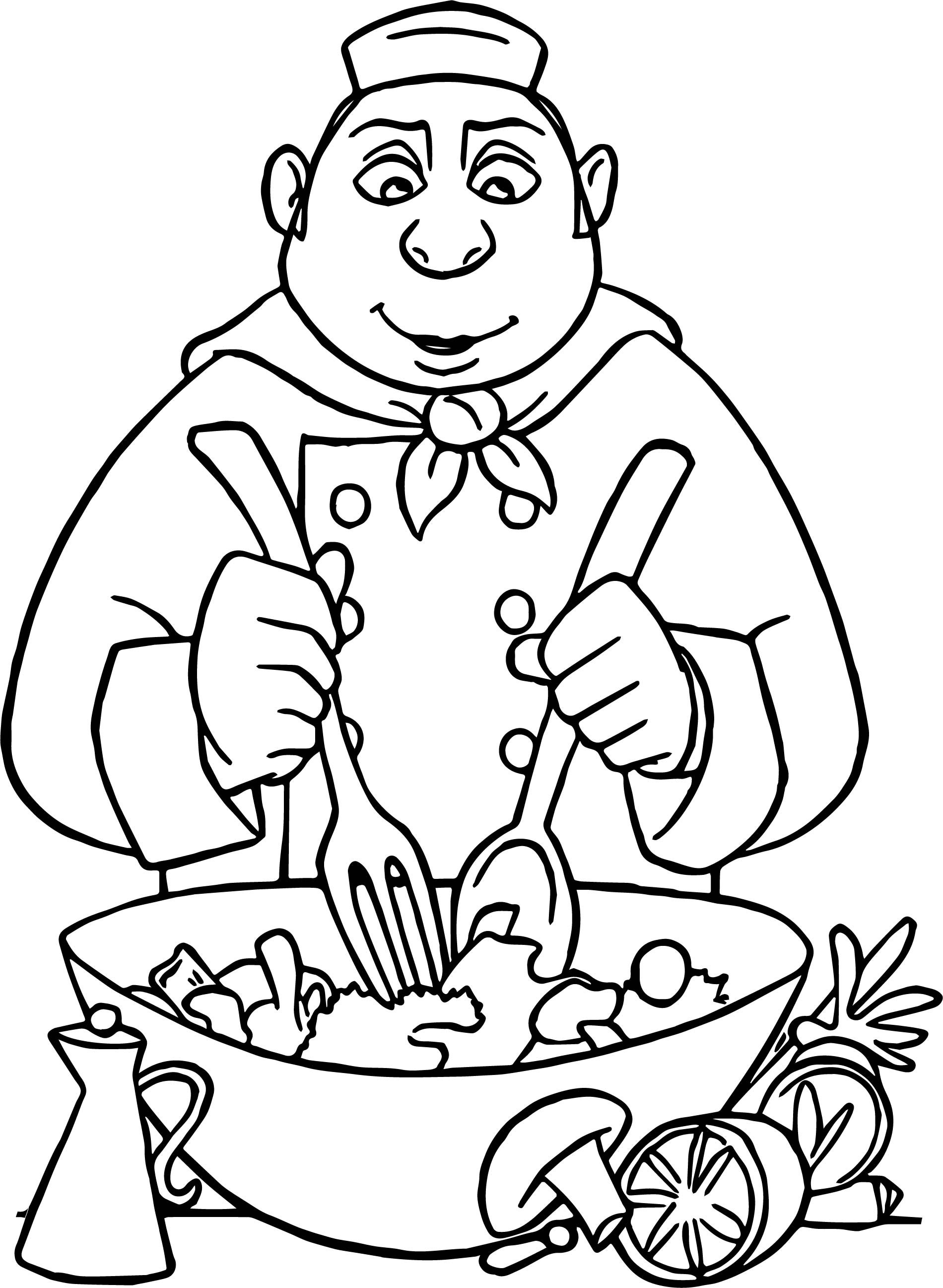 Ratatouille Making Food Coloring Page