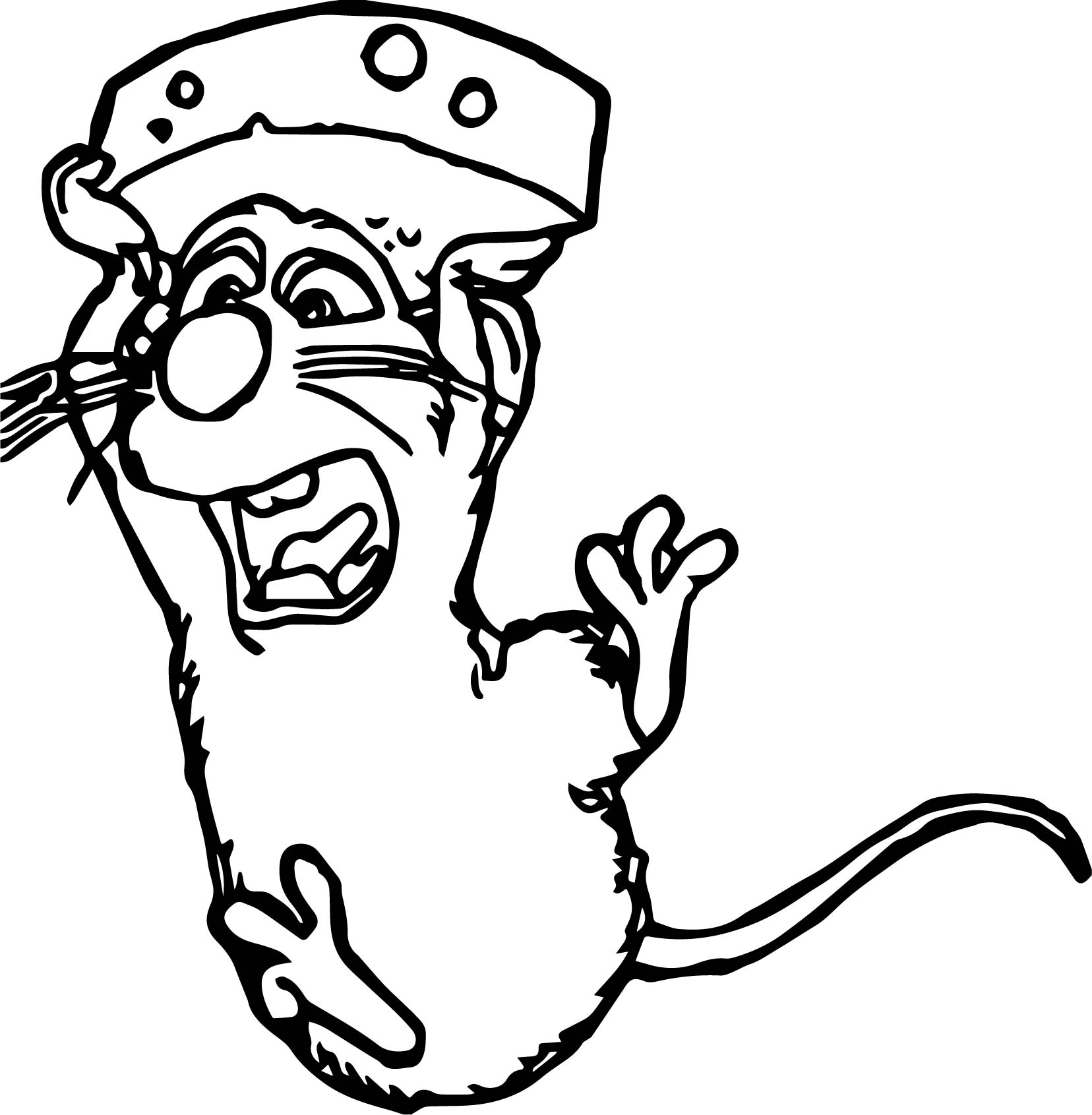 Ratatouille Mouse Remy Flying With Cheese Coloring Pages