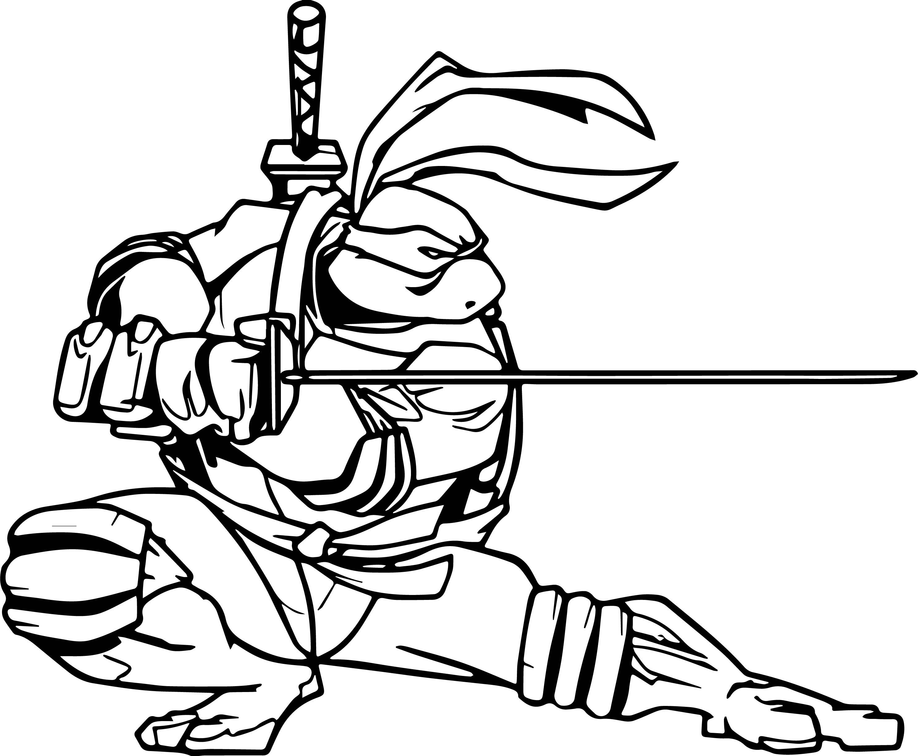 Ninja Turtles Face coloring page  Free Printable