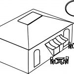 Restaurant Building Coloring Page