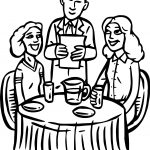 Restaurant Building People Cheap Restaurant Coloring Page