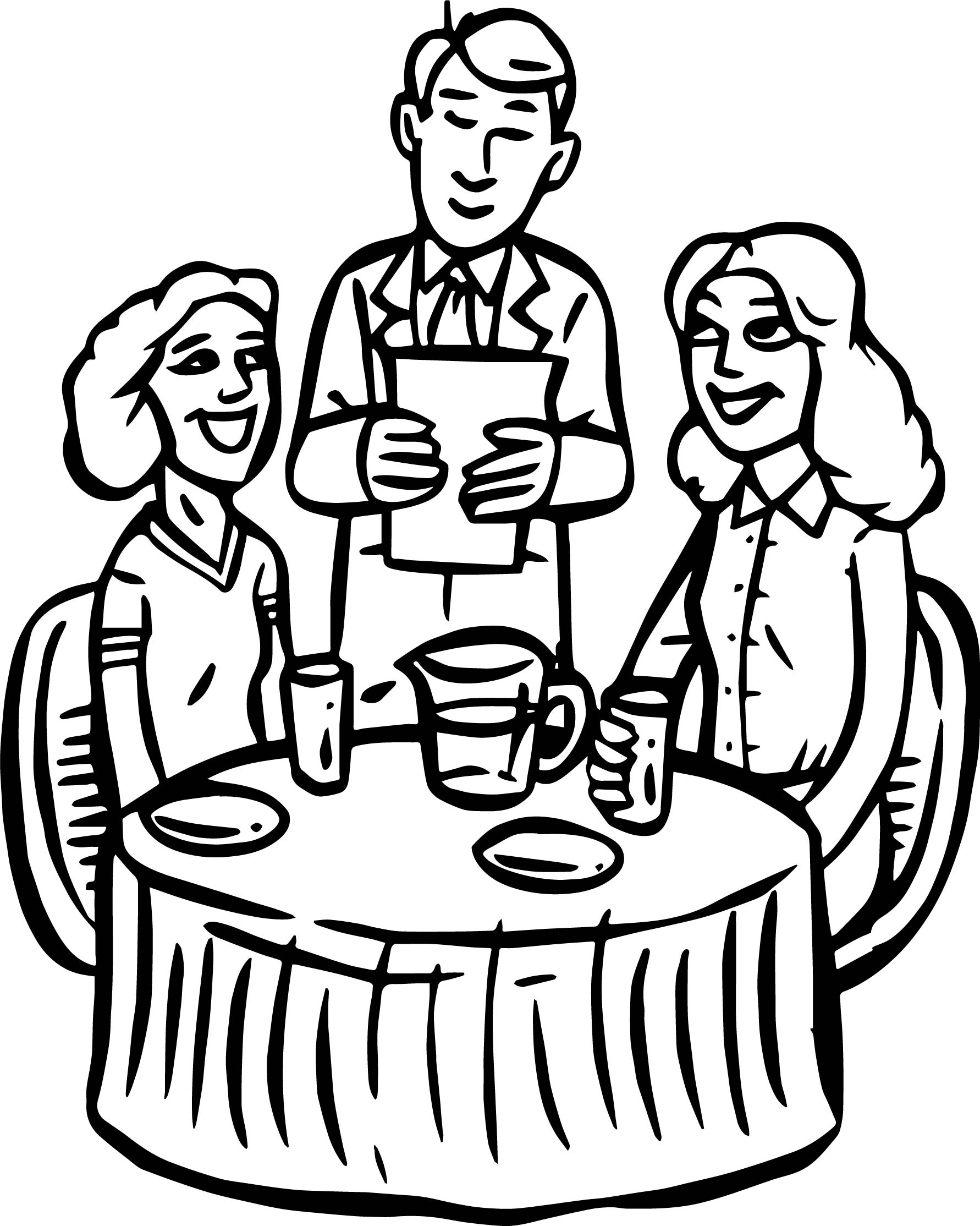 Coloring Pages For Restaurants : Healthy food coloring page pages for restaurant