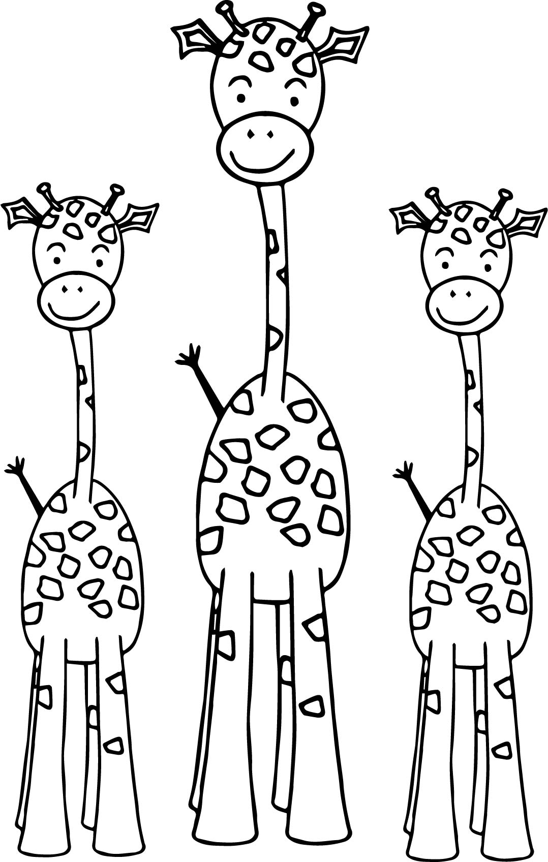 rickety giraffe coloring page - Giraffes Coloring Pages