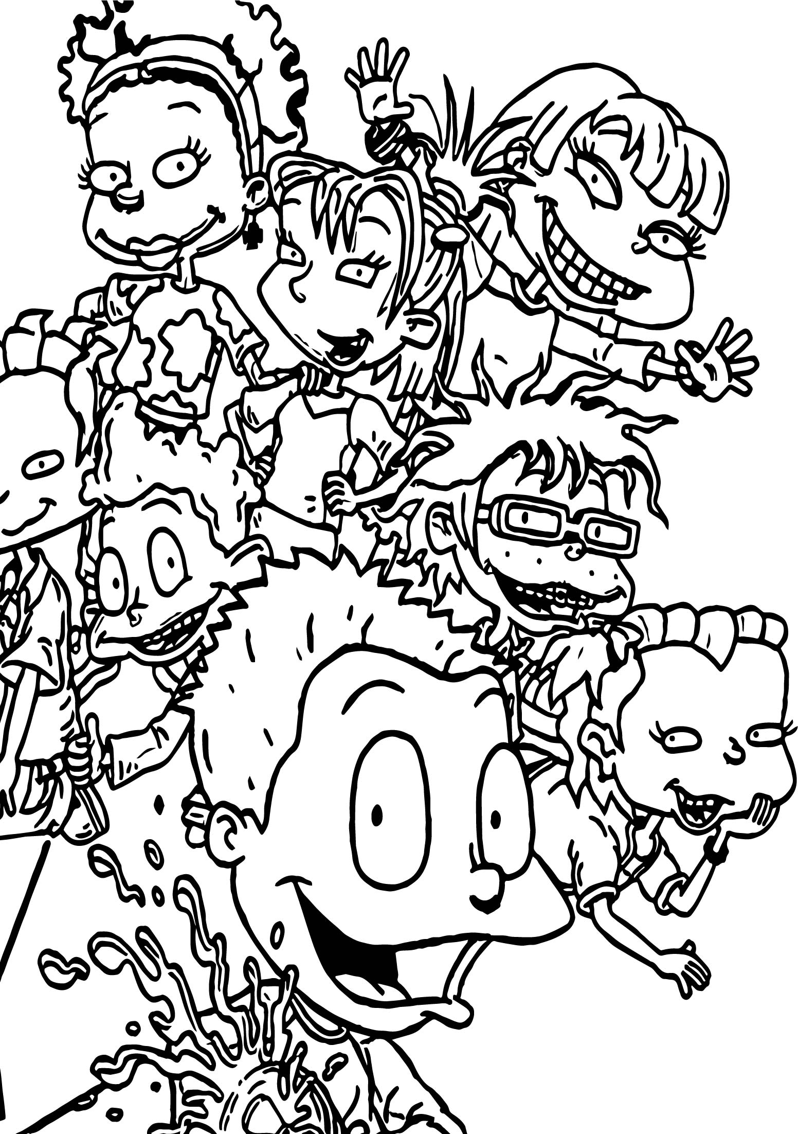 Rugrats Wallpaper Coloring Page