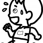 Running Boy Coloring Page