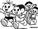 Running Kids Wpid Turma Da Monica Coloring Page