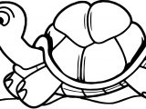 Running Tortoise Turtle Coloring Page