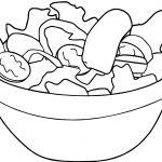 Salad Basket Coloring Page