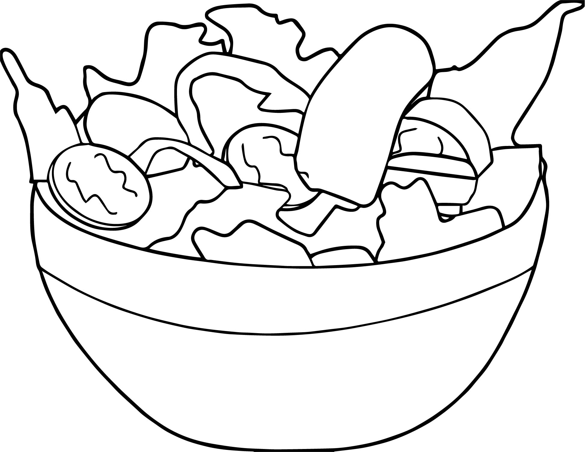 Salad Basket Coloring Page