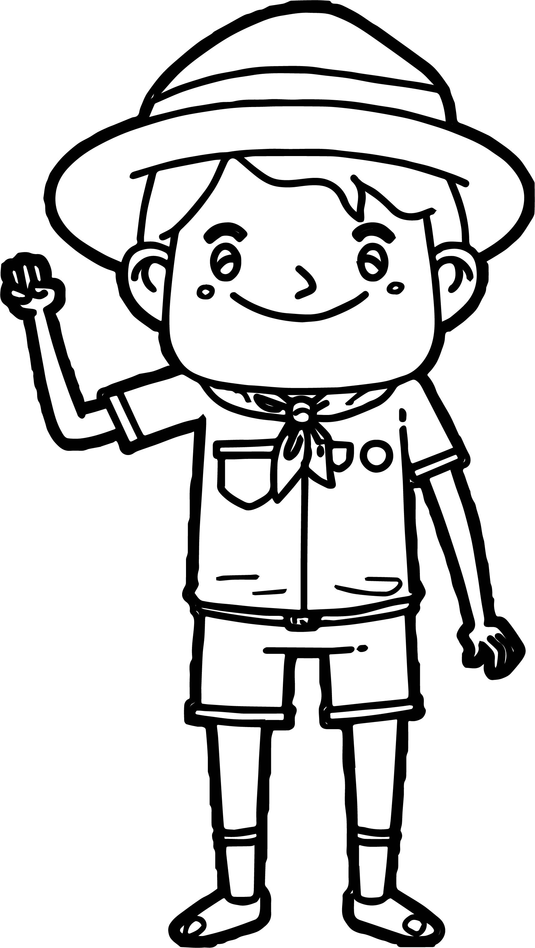 Scout Boy Coloring Page