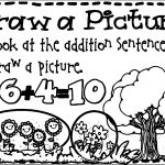 Sentence Addition Draw Picture Coloring Page