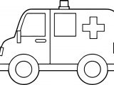 Side Ambulance Coloring Page