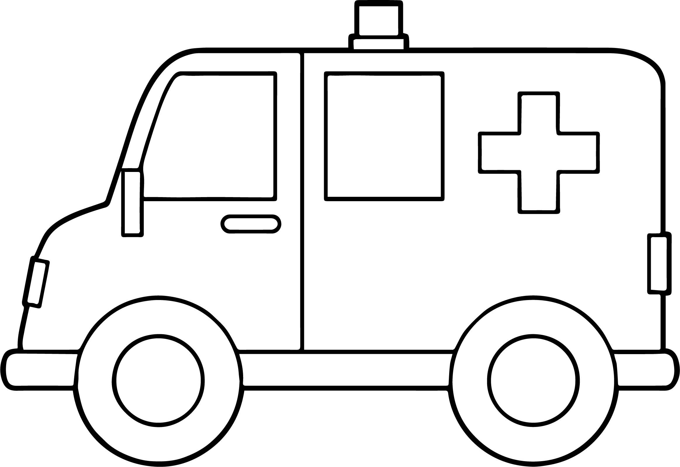 Side Ambulance Coloring Page