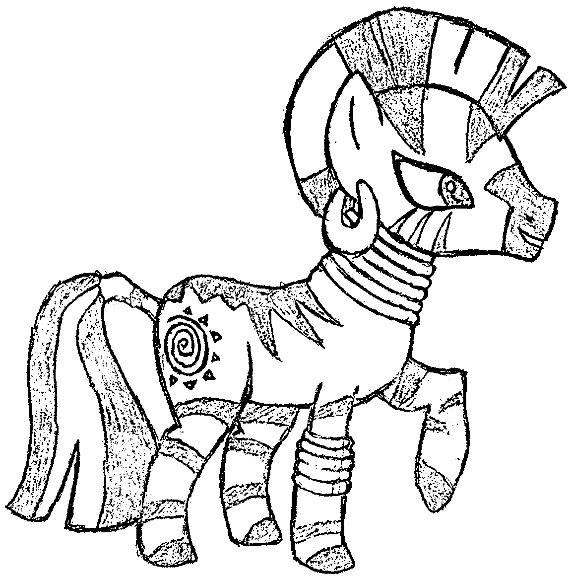 My Little Pony Zecora Coloring Pages : Sketch zecora the zebra coloring page wecoloringpage
