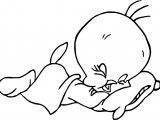 Sleeping Tweety Coloring Page