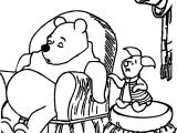 Sleeping Winnie The Pooh Coloring Page