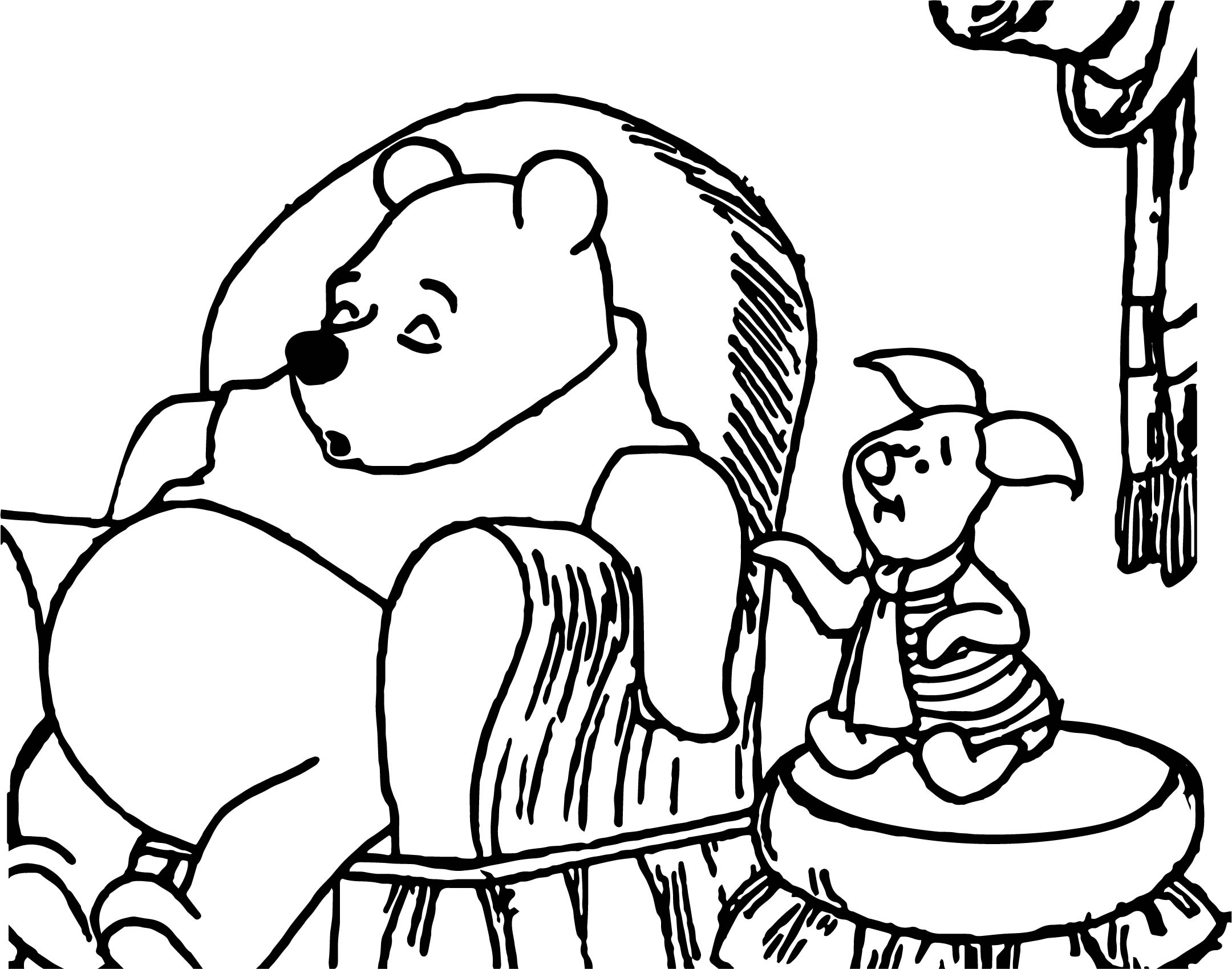 sleeping winnie the pooh coloring page wecoloringpage