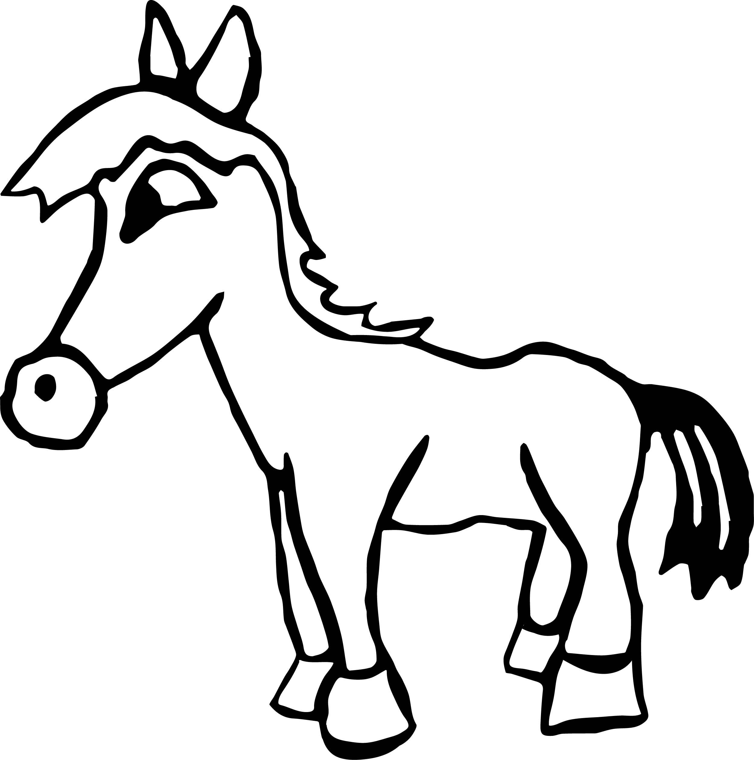 Small Arabian Horse Coloring Page