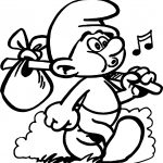 Smurfs Color Pictures Traveling Coloring Page