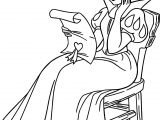 Snow White Reading Coloring Page