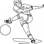 Soccer Playing Football Coloring Page