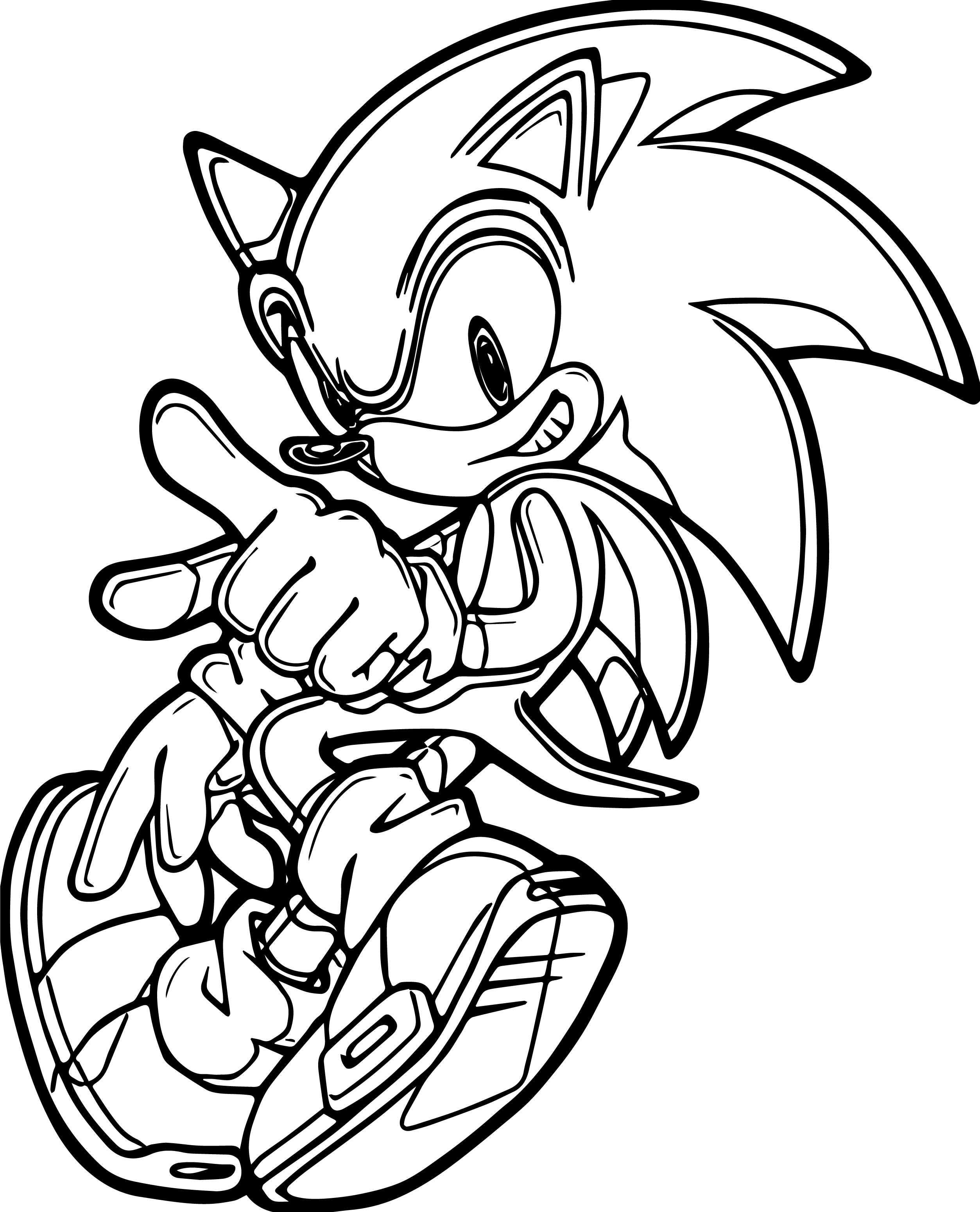 Sonic Coloring Page Sonic The Hedgehog Dance Coloring Page  Wecoloringpage