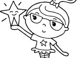 Stars On Girl Hand Coloring Page