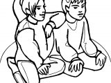 Staying Friendship Coloring Page