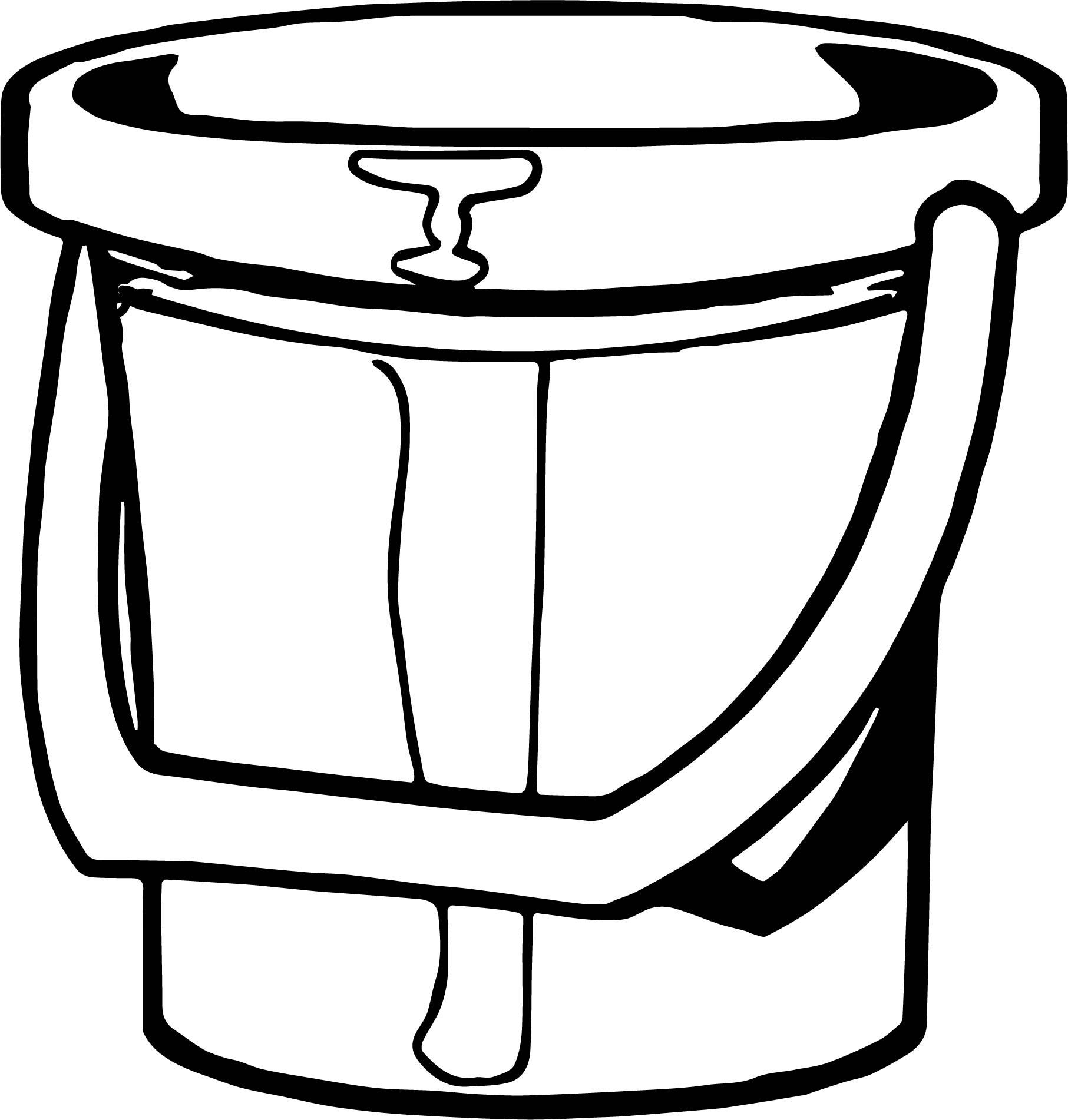 Summer Bucket Coloring Page