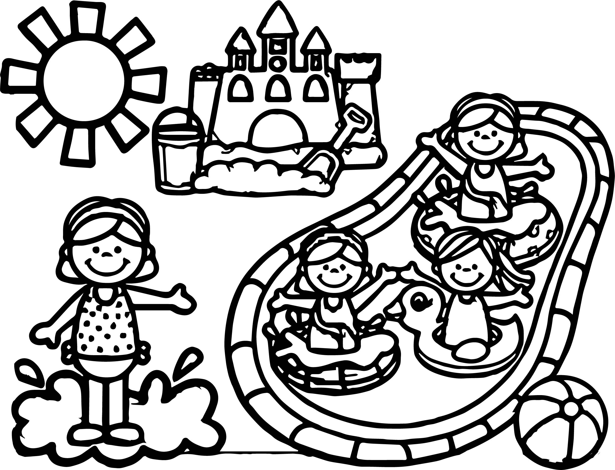 Summer Games Coloring Page   Wecoloringpage