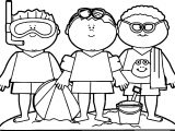 Summer Kids Coloring Page