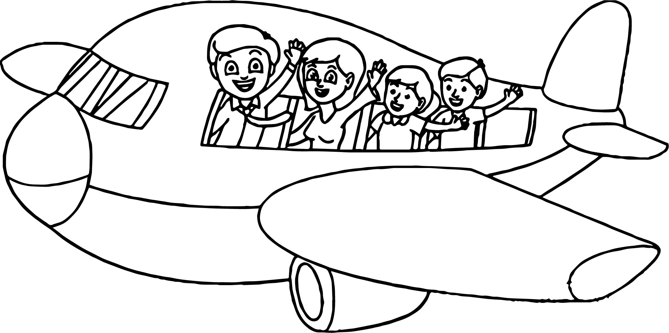 Summer vacation plane coloring page for Summer vacation coloring pages