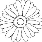 Sunflower Free Flower Images Coloring Page