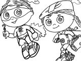 Super Why Boy And Girl Coloring Page