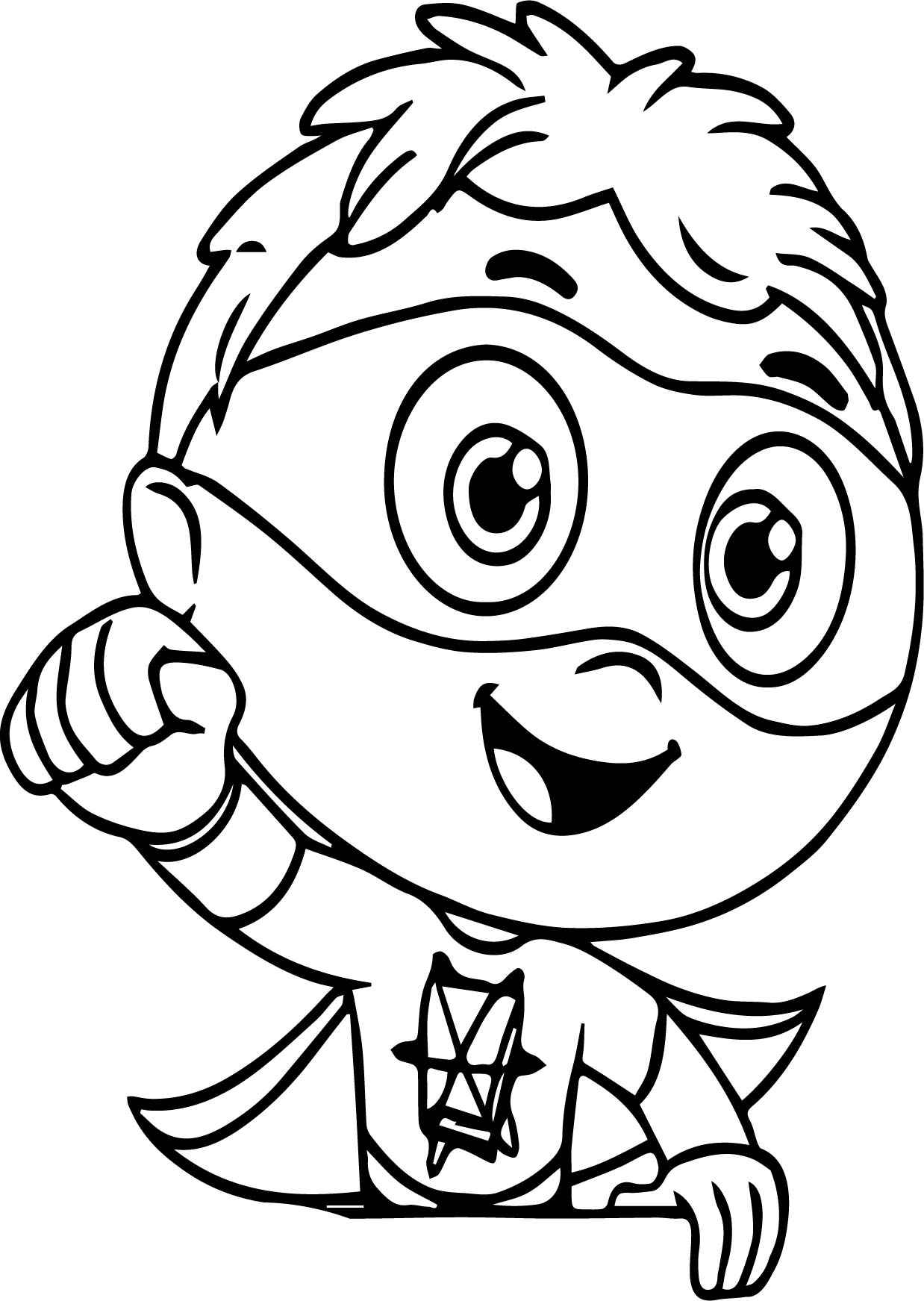 Super Why Lets Paint Coloring Page