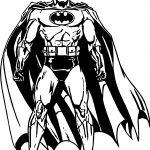 Superheroes Batman Waiting Super Hero Coloring Page