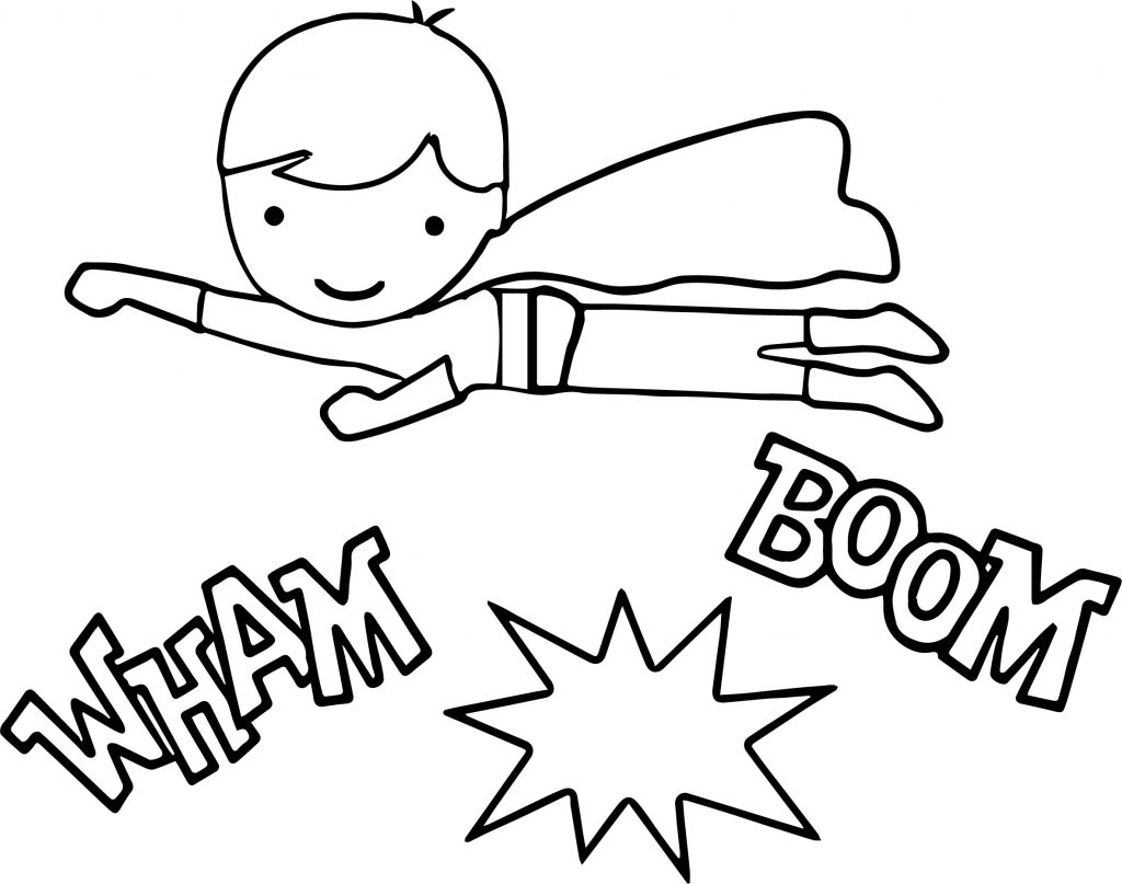 Superheroes Kid Super Hero Coloring