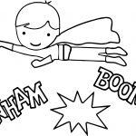 Superheroes Kid Super Hero Coloring Page