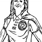 Superheroes Robin Girl Super Hero Coloring Page