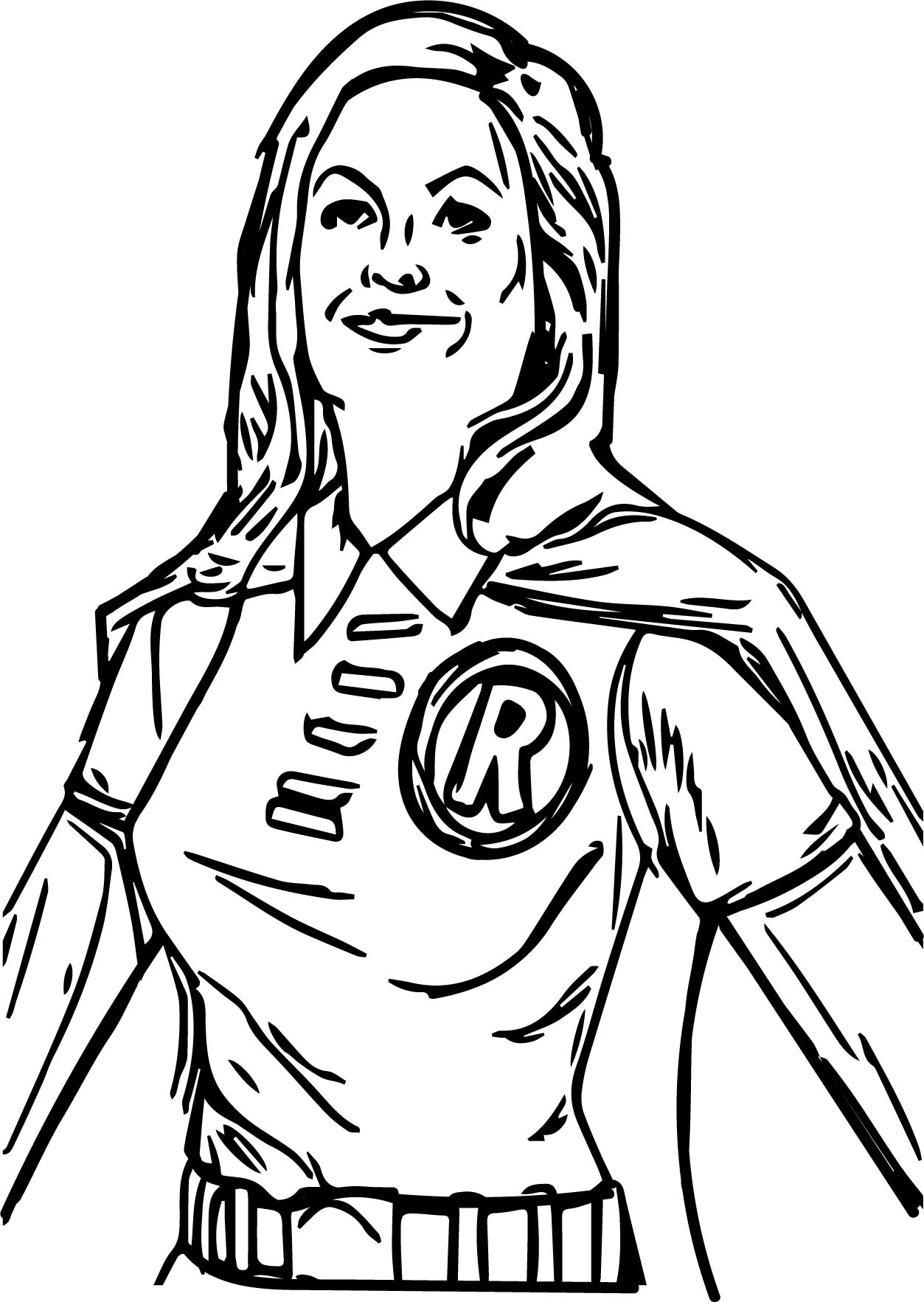 Superheroes Robin Girl Super Hero Coloring Page