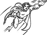 Superheroes Super Girl Hero Coloring Page
