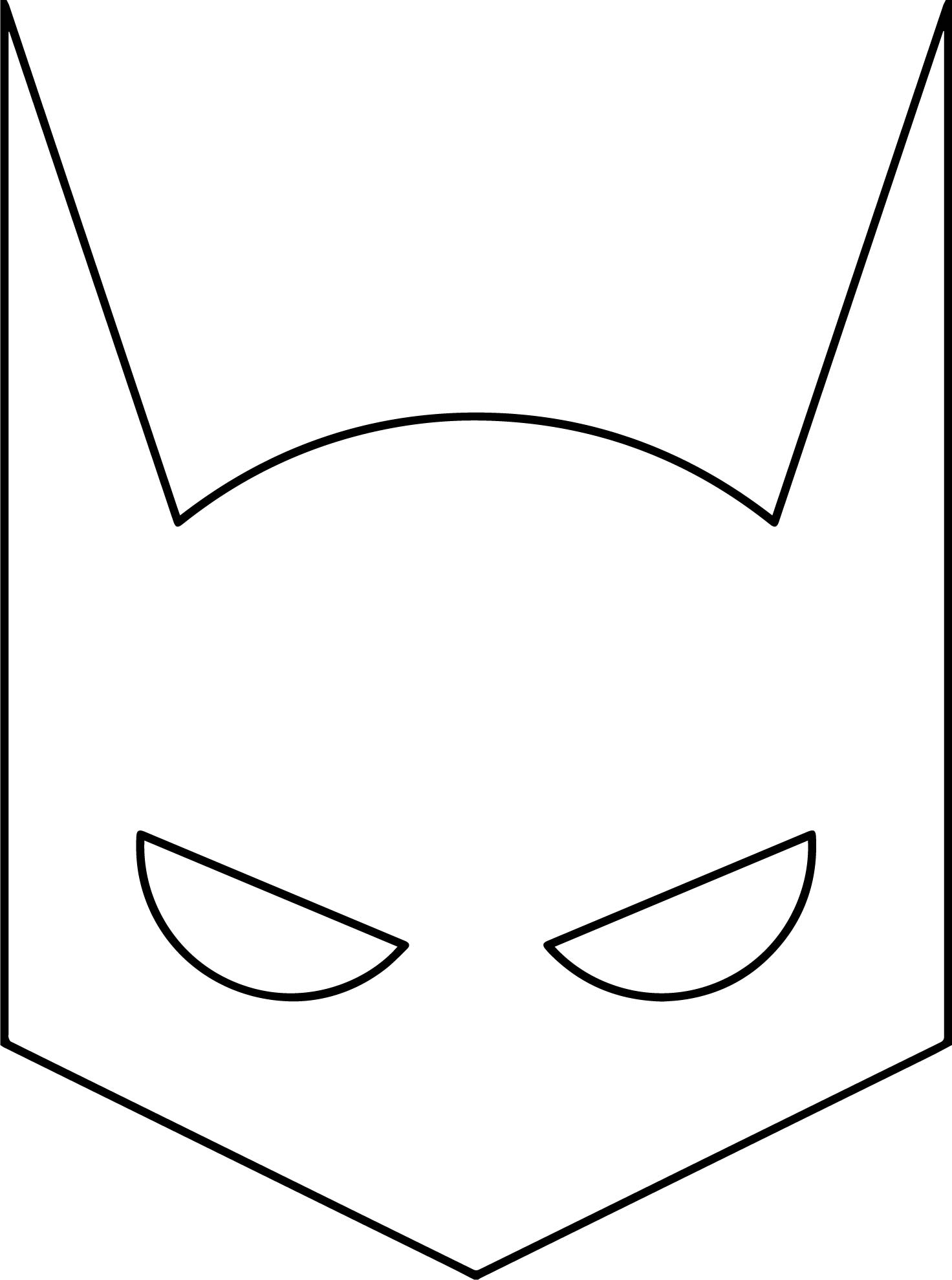 Superheroes Super Hero Batman Mask Coloring Page