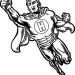 Superheroes Super Hero Man Coloring Page