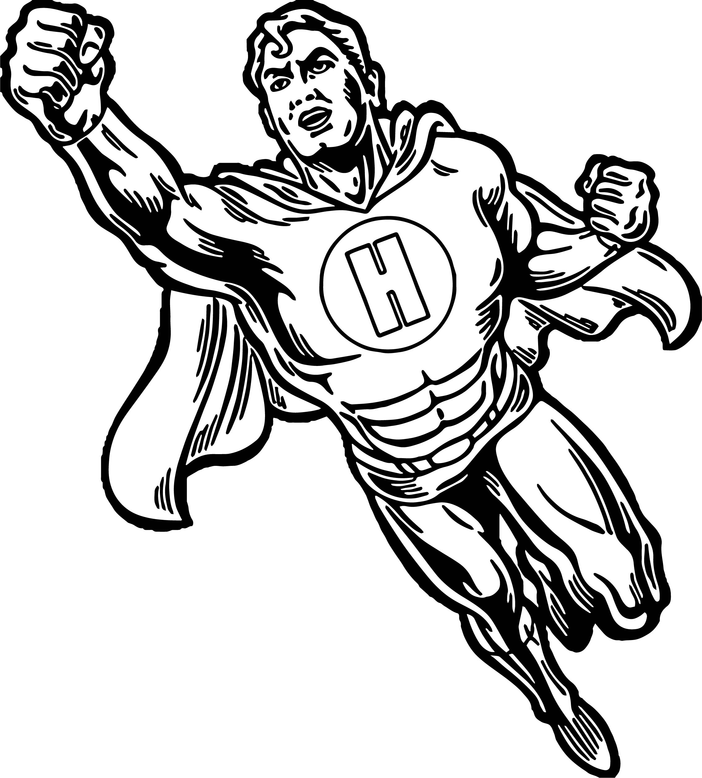 Superheroes Super Hero Man Coloring Page
