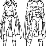 Superheroes Super Hero Man Woman Coloring Page
