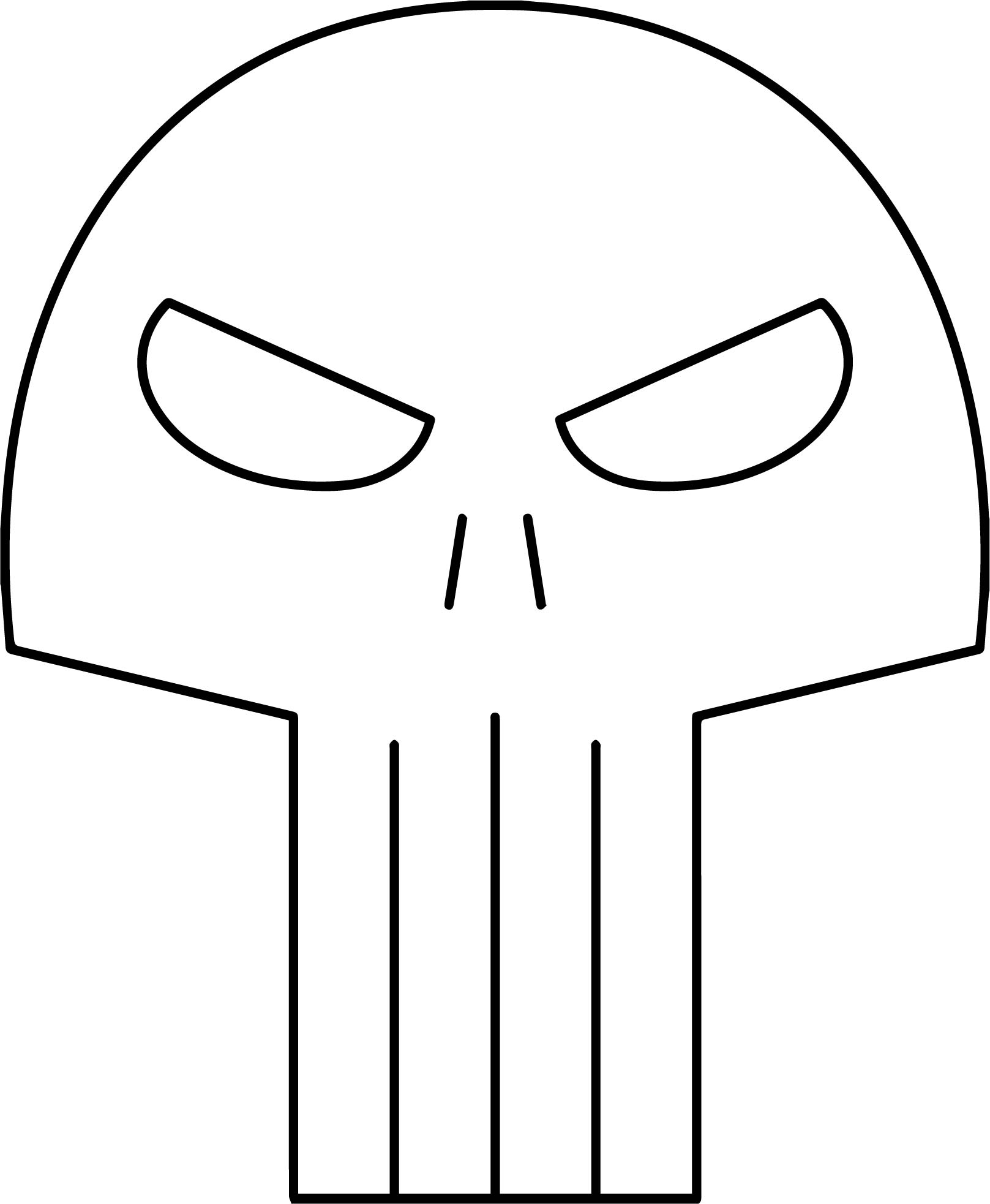 Superheroes Super Hero Mask The Punisher Coloring Page