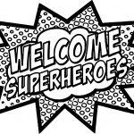 Superheroes Super Hero Text Coloring Page