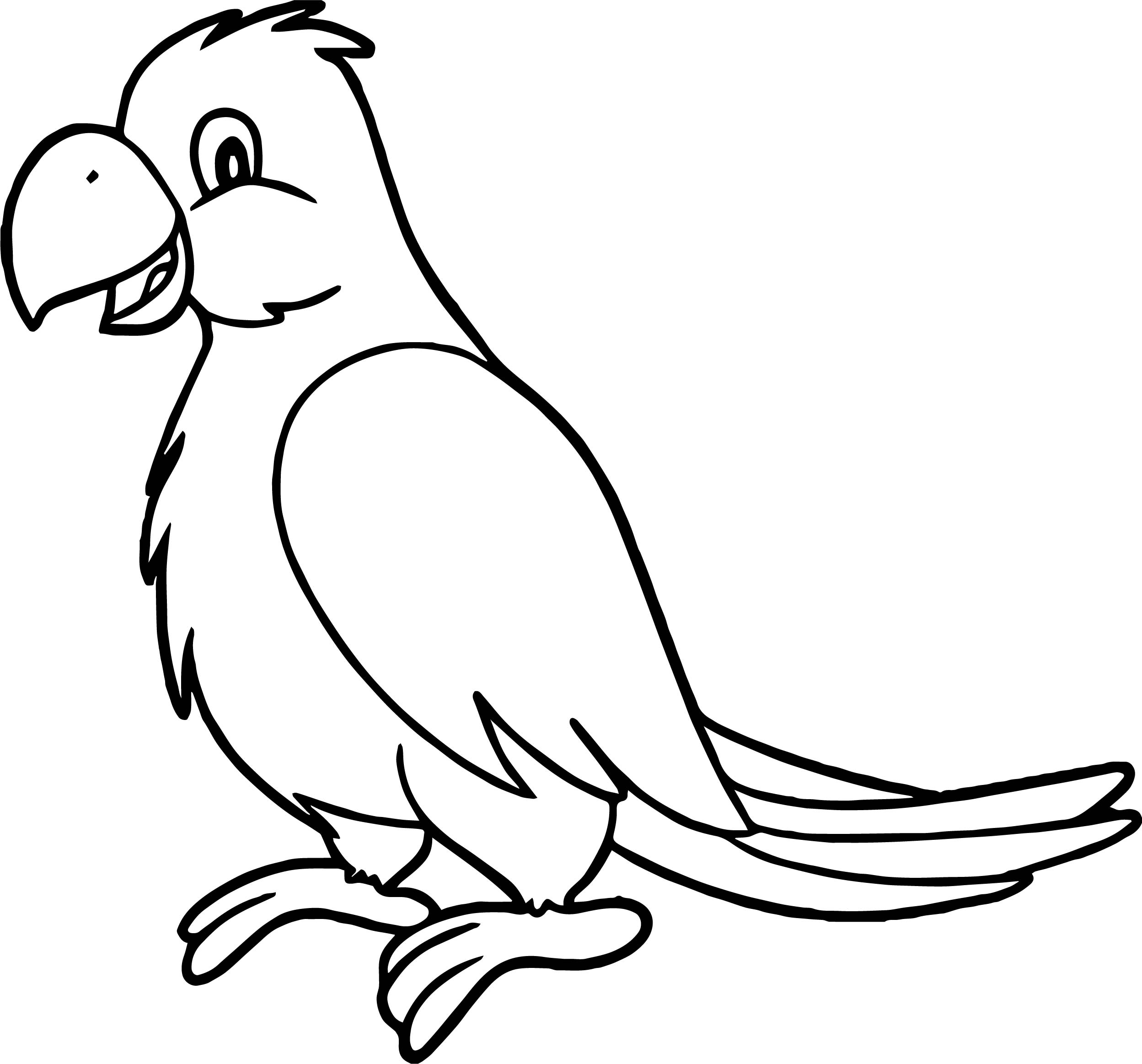 Sweet parrot coloring page for Coloring pages parrot
